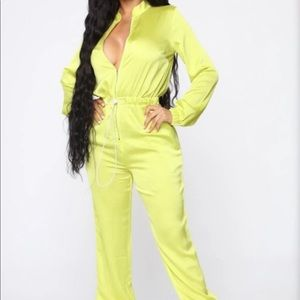 Fashion Nova Satin Jumpsuit